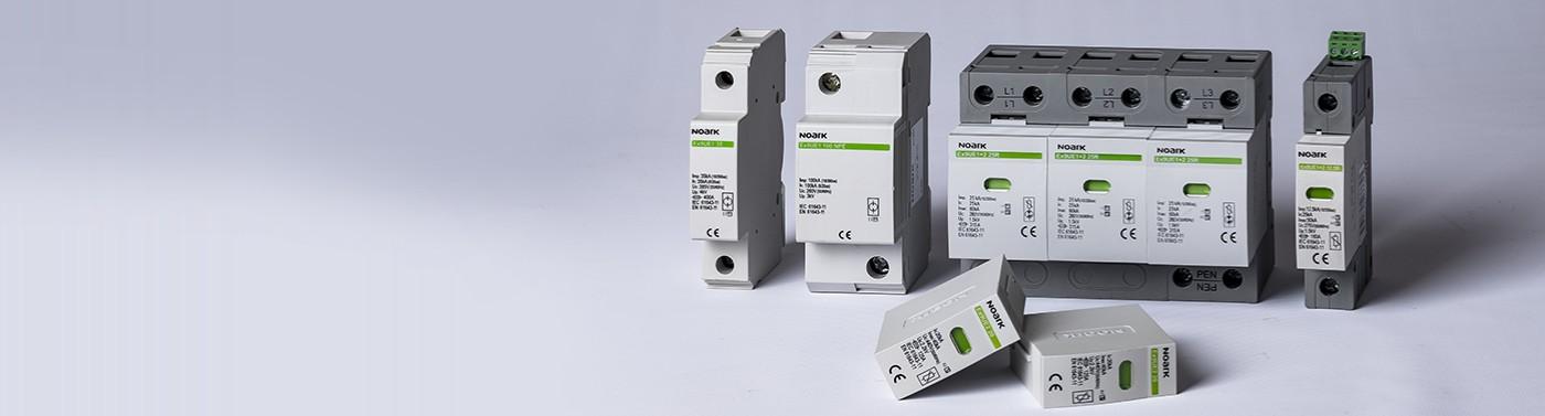 NOARK T1, T1+2 és T2 villámáram és túlfeszültség-levezetők